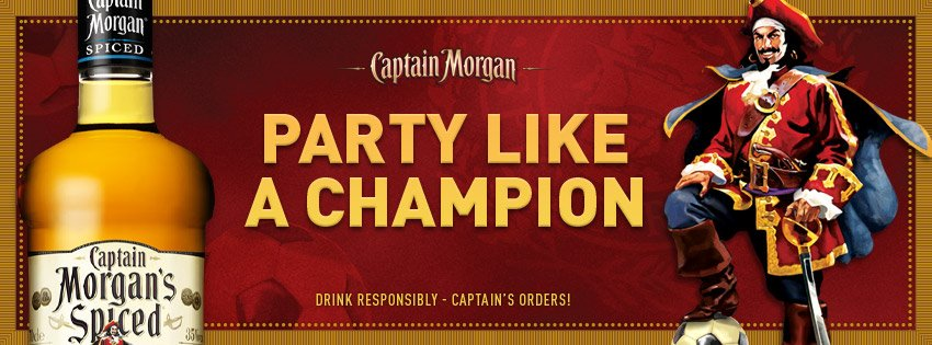 Captain Morgan Party Like a Champion