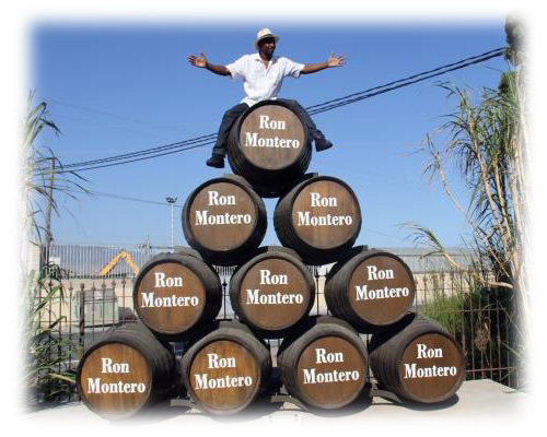 Ian Burrell at the Montero Distillery