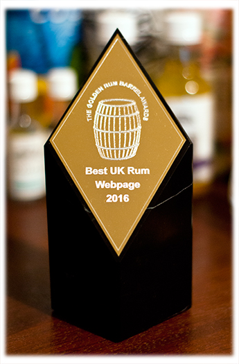 Golden Rum Barrel Awards 2016 Best UK Rum Website Award