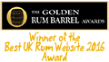 Winner of Golden Rum Barrel Awards Best UK Rum Website 2016
