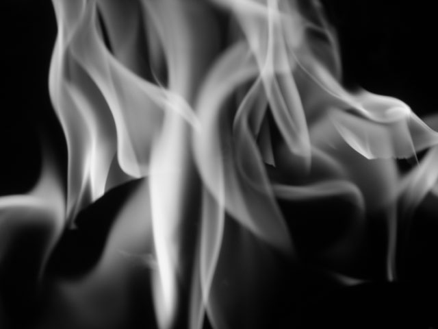Fire (Black and White)