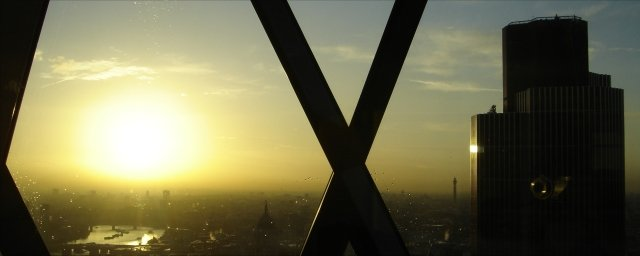 Sunset from the Gherkin